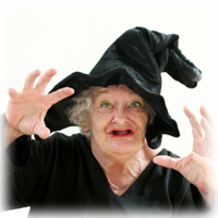 photo of scary old witch